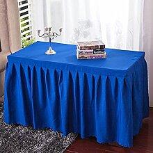 Zantec Tischdecke, rechteckig, einfarbig, für Zuhause, Hotel, Restaurant, Tisch, Polyester, marineblau, 180 * 60 * 75cm