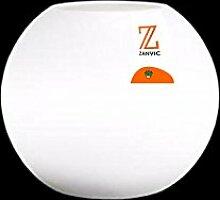 zanvic Blumentopf Omega mit Licht, 50cm, weiß,