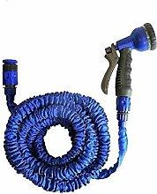 Zanvic Wasserschlauch ausziehbar blau mit Pistole
