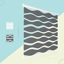 Zanyee Wellen Doppelrollo ohne Bohren