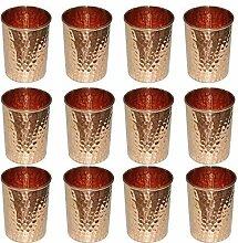 Zap Impex Trink Kupfer gehämmert Tumbler Glas