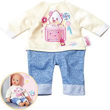 Zapf Creation Baby Born My Little Baby Kleidung (Hellgelb-Blau) [Kinderspielzeug]
