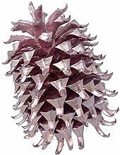 Zapfen Kaspatu Kiefer silberfarben rosé 20-30cm