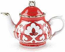 ZARENHOFF Teekanne Geschirr Pachta in Rot Teekanne