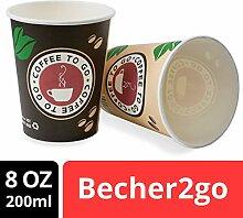 ZARMAN Kaffeebecher to go - Pappbecher 1000 Stück