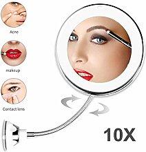 ZARQ Kosmetikspiegel, 10-Fach Vergrößerte