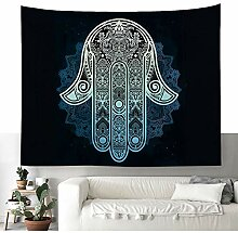 Zarte Geometrisch Hamsa Hand Wandteppich Mandala
