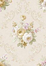 Zarte romantische Partie mit weißen Rosen, Ocker