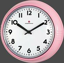Zassenhaus - Wanduhr Retro in pink (072754)