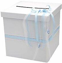 ZauberDeko Briefbox Blau Taufe Geburt Baby