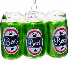 ZauberDeko Christbaumschmuck Bier Bierdosen Glas