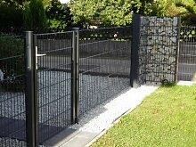 Zaun 100m Komplett-Angebot 1230mm Höhe RAL7016/anthrazit Doppelstabmattenzaun, Gartenzaun, Metallzaun, Zäune, Tor, Gartentor,