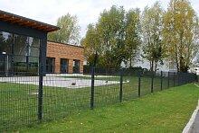 Zaun 100m Komplett-Angebot 830mm Höhe RAL7016/anthrazit Doppelstabmattenzaun, Gartenzaun, Metallzaun, Zäune, Tor, Gartentor,
