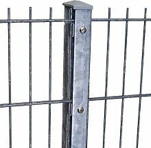 Zaun 25m Komplett-Angebot 1030mm Höhe verzinkt Doppelstabmattenzaun, Gartenzaun, Metallzaun, Zäune, Tor, Gartentor,