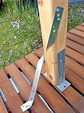 Zaun Anker Holzverbinder Pfosten Sturmanker 40 cm