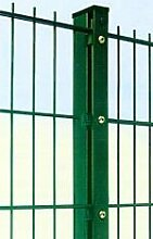 Zaun Gesamt Preis für 75m Zaun 1430mm Höhe RAL6005/grün Doppelstabmattenzaun, Gartenzaun, Metallzaun, Zäune, Tor, Gartentor,