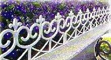 Zaun im Landhausstil verspielt und romantisch Friesenzaun kleiner Gartenzaun im Set zu 4 Stück 2,40 m weiß