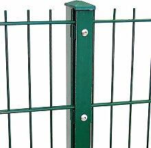 Zaun Komplett Preis für 75m Zaun 1630mm Höhe RAL6005/grün Doppelstabmattenzaun, Gartenzaun, Metallzaun, Zäune, Tor, Gartentor,