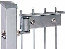 Zaun-Nagel Beschlagsset für Doppelstabtüren- und