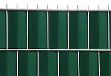 Zaun-Nagel Sichtschutz zum Doppelstabzaun grün,