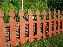 Zaun Rasenkante Beeteinfassung Palisade Gartenzaun Friesenzaun 1,95 m x 55 cm im Farbtrend für Spaliere & Zäune 2017 in dunkelbraun