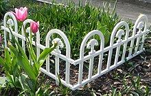 Zaun Rasenkanten Beeteinfassung Palisade Beetumrandung Garten Rasen Zierzaun Gartenzaun 4er Set 2,40 m