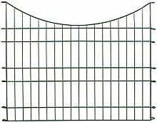 Zaun Set Gartenzaun Tiergehege Teichschutz Orlando 11 tlg. grün 485 x 80/64 cm