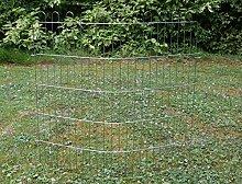 Zaunelement Zaunanlage Gartenzaun Komplettzaun Zaun Drahtzaun Luna 75,5 x 69 cm
