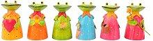 Zaunhocker Frosch Garten-Deko Metall bemalt verschieden Motive Preis für 1 Stück