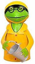Zaunhocker Metallfigur Metalldeko Frosch Gelb mit