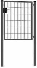 Zaunonline.de 1-flügeliges Gartentor 100 x 120 cm