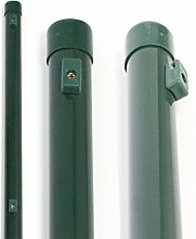 Zaunpfosten 1,75 m Höhe + kostenloser Versand // Ø 34 mm, 34 mm Gartenzaun Pfosten Zaunpfahl Maschendrah
