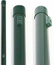 Zaunpfosten 2,0 m Höhe + kostenloser Versand // Ø 34 mm, 34 mm Gartenzaun Pfosten Zaunpfahl Maschendrah