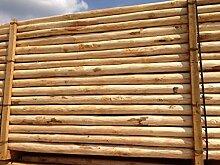 Zaunpfosten aus Edelkastanie 150 cm - Kastanienpfosten Staketenzaun - Kastanien Zaun Pfosten Zaunpfahl Holz Pfahl