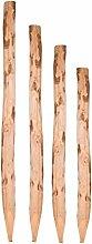 Zaunpfosten Kastanie 150 cm - Kastanienpfosten Staketenzaun - Kastanienholz Zaun Pfosten Zaunpfahl Holz Pfahl