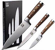 Zayiko 3er Messer-Set - Klingenlängen von 8,80 cm