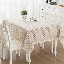ZB Baumwoll- und Leinenreihe Heimtuch Tisch Tischdecke Tisch Tisch quadratisch Tischdecke Staubschutz