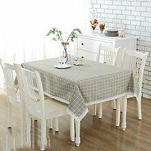 ZB Leinen Tuch Tischdecke einfache japanische Pastoral Wind kleine frische rechteckige Tisch Couchtisch Tuch Tischdecke
