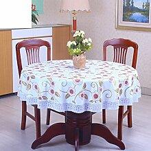 ZB STORE Pvc tischdecke,Runde tischdecke für hotels,Wasserdicht, Öl-frei, warm-reinigung, haushalt plastik tisch tuch-U Durchmesser200cm(79inch)