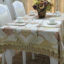 ZB STORE Stilvolle luxus günstig blume tischdecke,[lace tabletuch]-A 130x180cm(51x71inch)