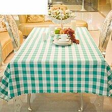 ZB STORE Tischtuch für Restaurant,Grüner Roter