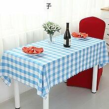 ZB STORE Tischtuch für restaurant,Grüner roter kaffee schwarz-weiß-gitter tischdecke,Der stil garten couchtisch tischdecke-A Durchmesser340cm(134inch)