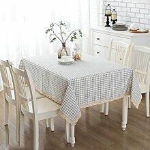 ZB Tischdecke Tischdecke Stoff Baumwolle und Leinen Garten Wind rechteckige Tisch Couchtisch Tischdecke Schal Handtuch Handtuch