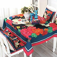 ZBB American Land Tischdecke/Stoff-tischdecke/Garten Moderne Homeboard Stoff Tischdecke-A 100x160cm(39x63inch)