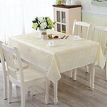ZBB PVC Garten Tischdecke/Wasser Und ?l-burn-proof Plastik-tischdecke/Weichglas Tuch Europ?isch Anmutenden Coffee Table Mat-M 137x210cm(54x83inch)