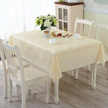 ZBB PVC Garten Tischdecke/Wasser Und ?l-burn-proof Plastik-tischdecke/Weichglas Tuch Europ?isch Anmutenden Coffee Table Mat-L 137x220cm(54x87inch)
