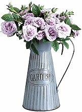 ZBBSHOP Dekoration Altes Blumenfass des
