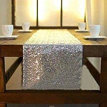 Zblp Tischläufer Tischläufer Mit Pailletten