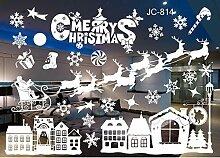 ZBYLL Fensteraufkleber Weihnachten Hängenden Ball