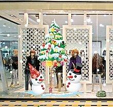ZBYLL Fensteraufkleber Weihnachten Shop